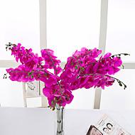 billige Kunstige blomster-10 Gren PU Orkideer Bordblomst Kunstige blomster