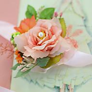 """levne Svatební kytice-Svatební kytice Živůtek na zápěstí Svatební Večírek Zásnuby Party/Koktejl Tyl Satén 3 cm (cca 1,18"""")"""