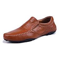 Homme Chaussures Cuir Nappa Printemps Automne Moccasin Oxfords Marche Pour Noir Marron