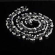 Perle / Krystal Pandebånd / Hovedtøj / Hovedkæde med Blomster 1pc Bryllup / Speciel Lejlighed Medaljon