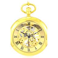 남성 스켈레톤 시계 회중 시계 기계식 시계 석영 오토메틱 셀프-윈딩 합금 밴드 골드