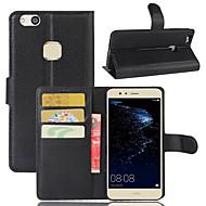 billiga Mobil cases & Skärmskydd-fodral Till Huawei Y530 / Huawei Honor 4X / Huawei Honor 7 Plånbok / Korthållare / Stötsäker Fodral Enfärgad Hårt PU läder för P10 Plus / P10 Lite / P10 / Huawei P9 Plus / Huawei P9 Lite / huawei P9