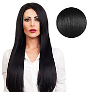 20PCS Tape In Hair Extensions #1 Dark Black Jet Black 40g 16Inch 20Inch 100% Human Hair For Women
