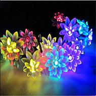 billige -Lysslynger 100 lysdioder Varm hvid RGB Hvid Lyserød Lilla Gul Blå Vandtæt 220V