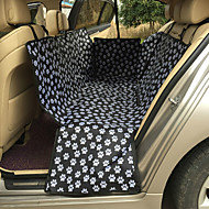 Cat Dog Car Seat Cover Pet Mats & Pads Portable Double-Sided Breathable Foldable Massage Black