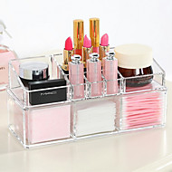 Acrylic Complex Combined Double Layer Makeup Brush Pot Cosmetics Storage Organizer 2PCS Set