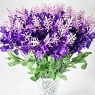 10 ブランチ ポリエステル ライトブルー 人工花