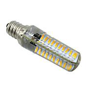 billige Bi-pin lamper med LED-HKV 5W 400-500 lm E14 BA15d E17 E12 LED-lamper med G-sokkel T 80 leds SMD 4014 Mulighet for demping Varm hvit Kjølig hvit AC 220-240V