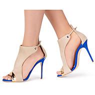 Feminino-Sandálias-Chanel-Salto Agulha--Sintético-Casamento Escritório & Trabalho Social Festas & Noite