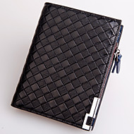 Men Bags All Seasons PU Wallet Rivet for Casual Formal Outdoor Office & Career Black Coffee Navy Blue