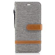billiga Mobil cases & Skärmskydd-fodral Till Huawei P9 Lite Huawei Korthållare Plånbok med stativ Lucka Fodral Linjer / vågor Hårt Textil för P10 Plus P10 Lite P10 Huawei
