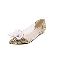 נשים-נעליים ללא שרוכים-PU-סוליות מוארות-זהב כסף-יומיומי