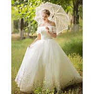 Plesové šaty Na zem Tyl Svatební šaty s Korálky Flitry Aplikace podle LAN TING BRIDE®