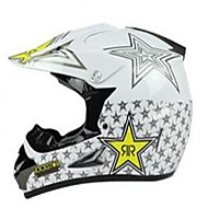 cheap -Off-Road Motorcycle Racing Helmet with Golden Star Pattern Full Face Damping Durable Motorsport Helmet