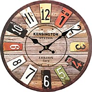 Wood Wall Clock Vintage Quartz Large Wall Watch Roman Numbers European Style Mordern Design Wall Clocks