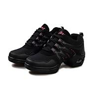 billige Dansesneakers-Dansesko(Svart og Gull Svart/Rød) -Moderne-Kan ikke spesialtilpasses-Flat hæl