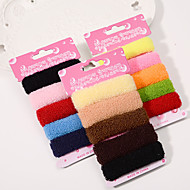 South Korea's Hair Accessories Boutique Rope Elastic Hair Hair Bands High Elastic Hair Band 15/3 Card Mix