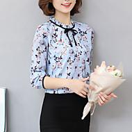 billige Topper til damer-Silke Skjorte Trykt mønster Bohem Dame