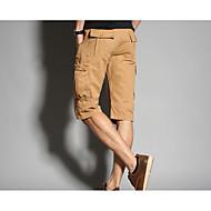 Muškarci Ležerne prilike Normalan struk Neelastično Širok kroj Kratke hlače Hlače Jednobojni Ljeto