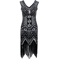 cheap -Sheath / Column V Neck Asymmetrical Polyester Cocktail Party / Homecoming Dress with Sequin by Z&X
