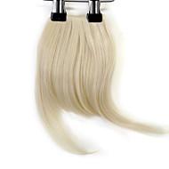billige -neitsi 1pcs 8 '' 25g / pc klippet inn på hår frynse kort rett syntetisk hår smell 613 #