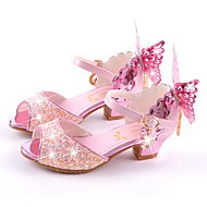 Girls' Sandals Summer Fall Comfort Novelty Flower Girl Shoes Microfibre Wedding Party & Evening Dress Casual Flat Heel Stiletto Heel