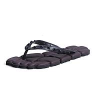 Herren Slippers & Flip-Flops Walking Leuchtende Sohlen paar Schuhe maßgeschneiderte Werkstoffe Frühling Sommer NormalSchwarz Braun Rot