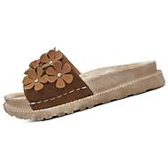 cheap Women's Sandals-Women's Sandals Comfort Rubber Summer Outdoor Walking Comfort Creepers Dark Brown Beige Black Under 1in