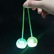 LED-belysning Yoyo Bolde Finger Yo yo Stresslindrende legetøj Legetøj Sjov Cirkelformet Bold Tekstil silica Gel Plast Stk. Børne Unisex