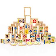 Stavební bloky za dárky Stavební bloky Přírodní dřevo 3-6 let Hračky