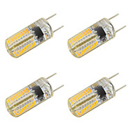 baratos Luzes LED de Dois Pinos-4pçs 3W 350-400lm Luminárias de LED  Duplo-Pin T 64 Contas LED SMD 3014 Branco Quente Branco Frio 220-240V