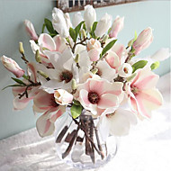 15inch 1 Branch Silk Magnolia Artificial Flowers Home Decoration