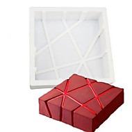1PCS Silicone 3D Geometric Square Mold Cake Decorating Baking Tools Chocolate