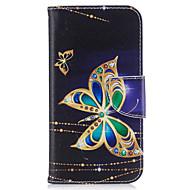 Θήκη Za Samsung Galaxy Utor za kartice Novčanik sa stalkom Zaokret S magnetom Uzorak Korice Rukav leptir Tvrdo PU koža za J3 (2016) J3