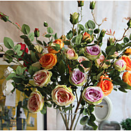 En gjeng fransk romantisk rose kunstig blomster hjemme dekorasjon