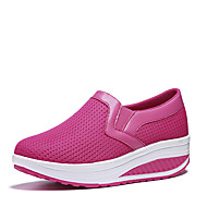 Women's Loafers & Slip-Ons Tulle Summer Fall Walking Platform Black Dark Blue Gray Fuchsia 4in-4 3/4in