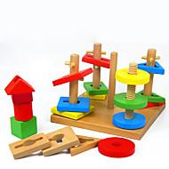 Pro šikovné ručičky za dárky Stavební bloky Modelování Čtvercový Dřevo 2-4 roky 5-7 let Hračky