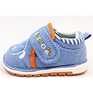Bebek Ayakkabı Kürk Yapay Deri Bahar Sonbahar İlk Adım Düz Ayakkabılar Yürüyüş Alçak Topuk Yuvarlak Uçlu Sihirli Bant Uyumluluk Günlük