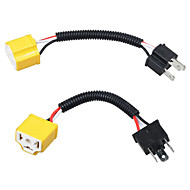 H4 Ceramic Wire Wiring Harness Headlight Socket Connector Adaptor Plug Extension