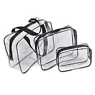 3 Pças. Totes & sacos cosméticos Prova-de-Água Á Prova-de-Chuva Á Prova-de-Pó Macio Retangular Pregue removedor Creme de Mãos Loção de