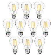 8W E27 Lâmpadas de Filamento de LED A60(A19) 8 leds COB 600lm Branco Quente Branco 3000-3500   6000-6500