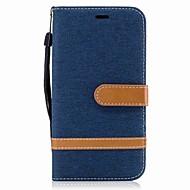billiga Mobil cases & Skärmskydd-fodral Till Motorola Plånbok / Korthållare / med stativ Fodral Enfärgad Hårt Textil för Moto G5 Plus / Moto G5 / Moto G4 Plus
