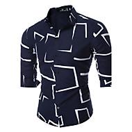 Majica Muškarci Dnevno Vikend Geometrijski oblici Klasični ovratnik Slim