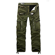 Masculino Moda de Rua Cintura Média Micro-Elástica Chinos Calças,Solto Sólido