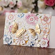 Embrulhado e de Bolso Convites de casamento Outros Cartões de convite Clássico Material Papel de Cartão Flor