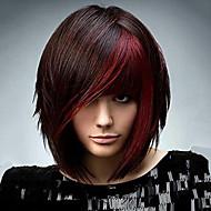 Femme Perruque Synthétique Court Très Frisé Noir/Rouge Perruque afro-américaine Perruque Naturelle Perruque Déguisement