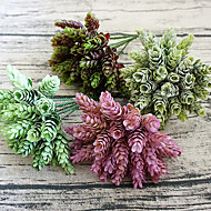tanie -1 sztuka 1 Gałąź Plastikowy Rośliny Bukiety na stół Sztuczne Kwiaty