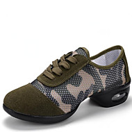 Women's Dance Shoes Synthetic Synthetic Dance Sneakers / Modern Sneakers Low Heel Outdoor Army Green