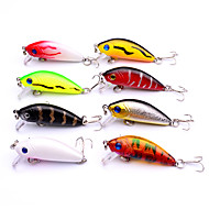 "cheap Fishing-8 pcs Lure Packs Crank Hard Bait g / Ounce mm / 2-1/8"" inch Sea Fishing Bait Casting Spinning Freshwater Fishing Lure Fishing Bass Fishing"