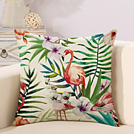 cheap Throw Pillows-1 pcs Cotton/Linen Pillow Case Pillow Cover, Printing Animal Novelty Vintage Casual Tropical European Neoclassical Traditional/Classic